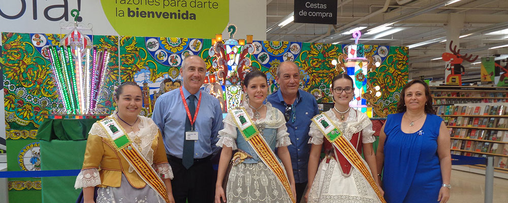 Exposición de maquetas en Carrefour