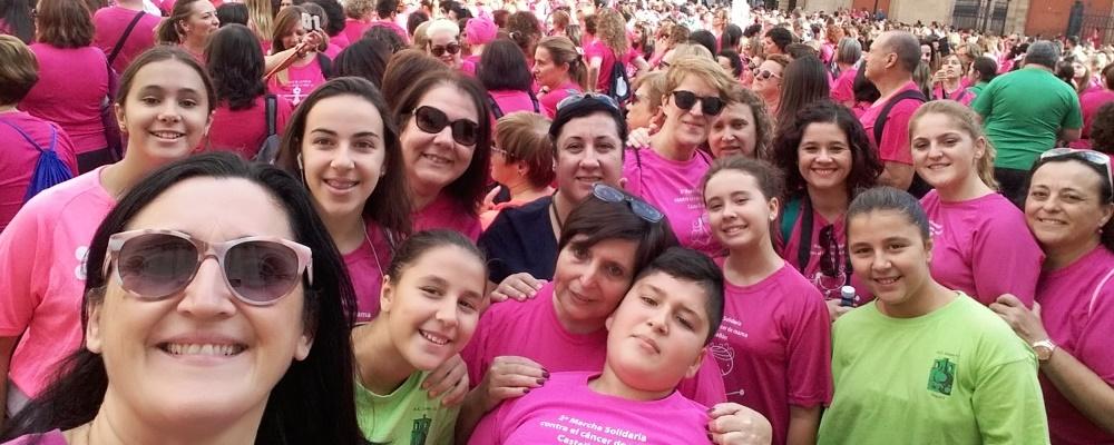 Marcha solidaria contra el cáncer del mama