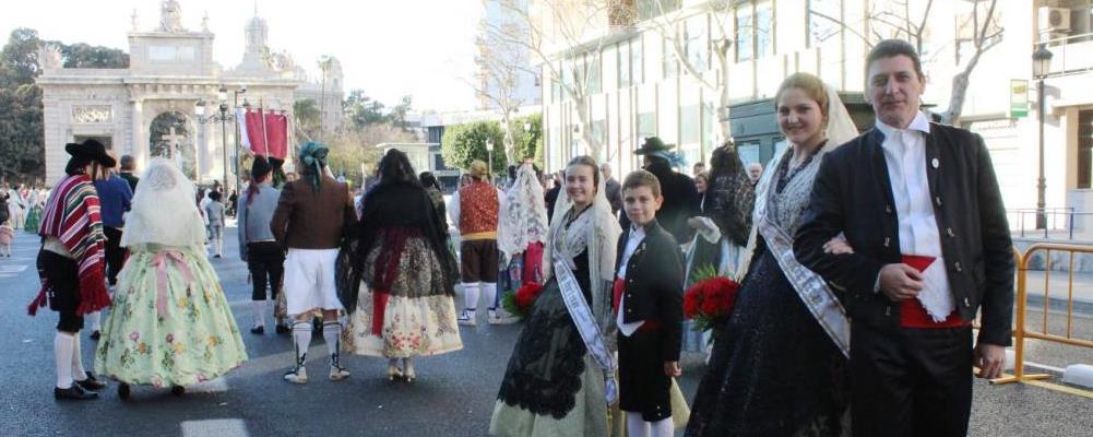 Offering to the Virgen de los Desamparados of Valencia